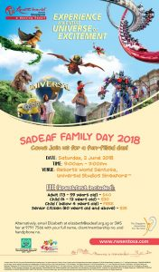 SADeaf Family Day @ Resorts World Sentosa, Universal Studios Singapore | Singapore