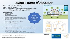 Smart Home Workshop @ Tech Able, Level 1 Village Green, Enabling Village   Singapore   Singapore