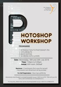 Photoshop Workshop @ SADeaf AVA | Singapore | Singapore