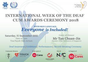 International Week of the Deaf Cum Awards Ceremony 2018 @ Toa Payoh Hub Atrium | Singapore | Singapore