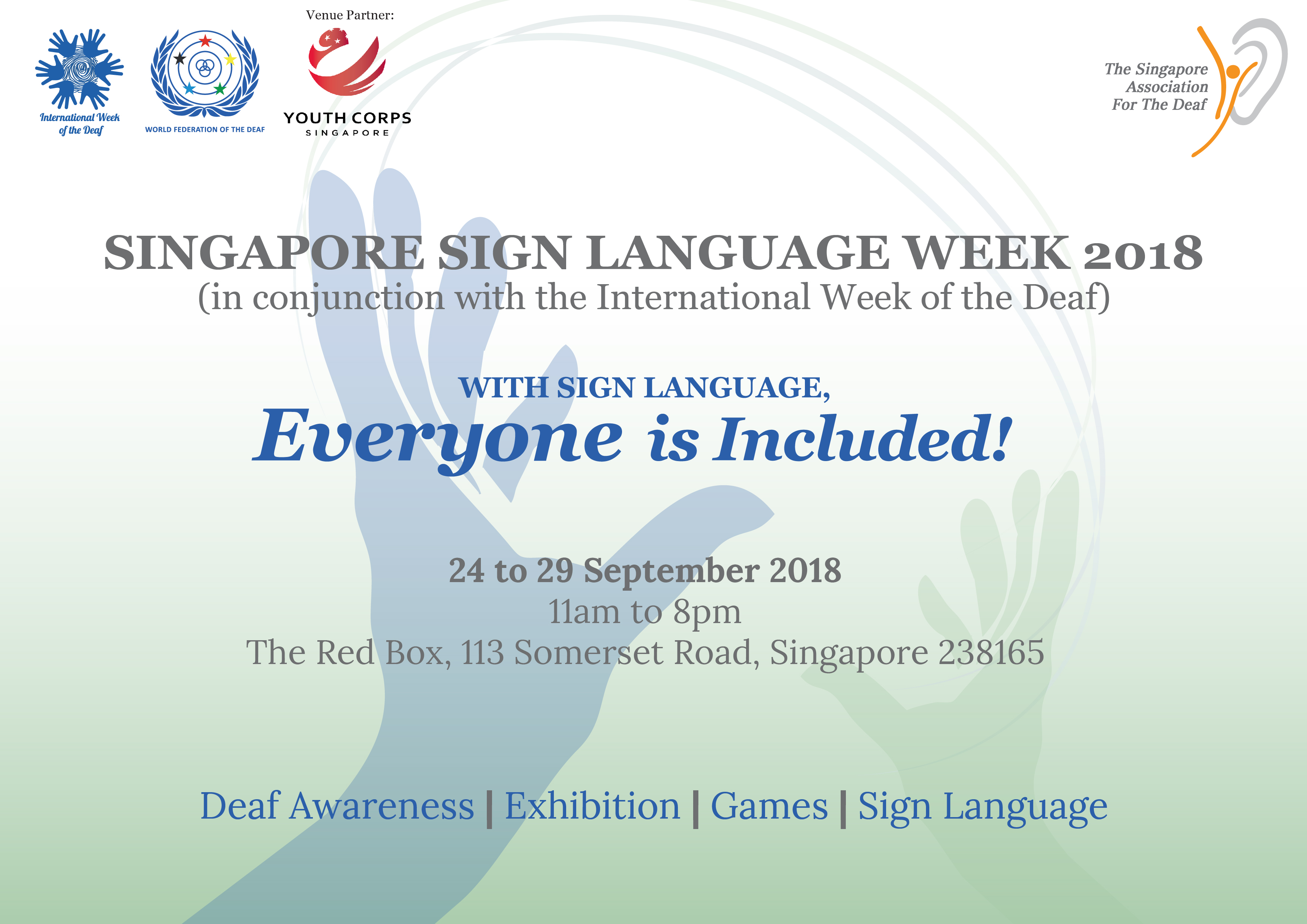 Singapore Sign Language Week The Singapore Association For The Deaf