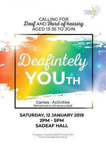 Deafinitely Youth @ SADeaf Hall | Singapore | Singapore