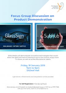 Focus Group Discussion for Product Demonstration @ SADeaf Hall   Singapore   Singapore