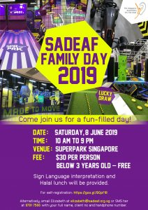 SADeaf Family Day @ SuperPark Singapore | Singapore