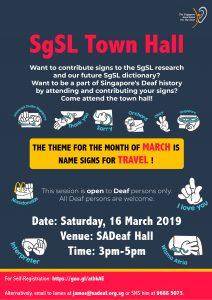 SgSL Town Hall - Travel @ SADeaf Hall | Singapore | Singapore