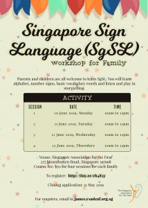SgSL Workshop for Family @ SADeaf | Singapore | Singapore