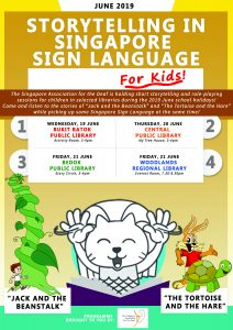 Storytelling in Sign Language Sessions in June 2019 @ Bukit Batok Public Library | Singapore | Singapore