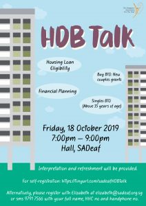 Talk on Housing Matters by HDB @ SADeaf Hall | Singapore | Singapore