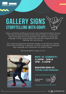 NGS - Storytelling with Gohpi @ City Hall Wing, L1, Karung Guni Boy Installation | Singapore | Singapore