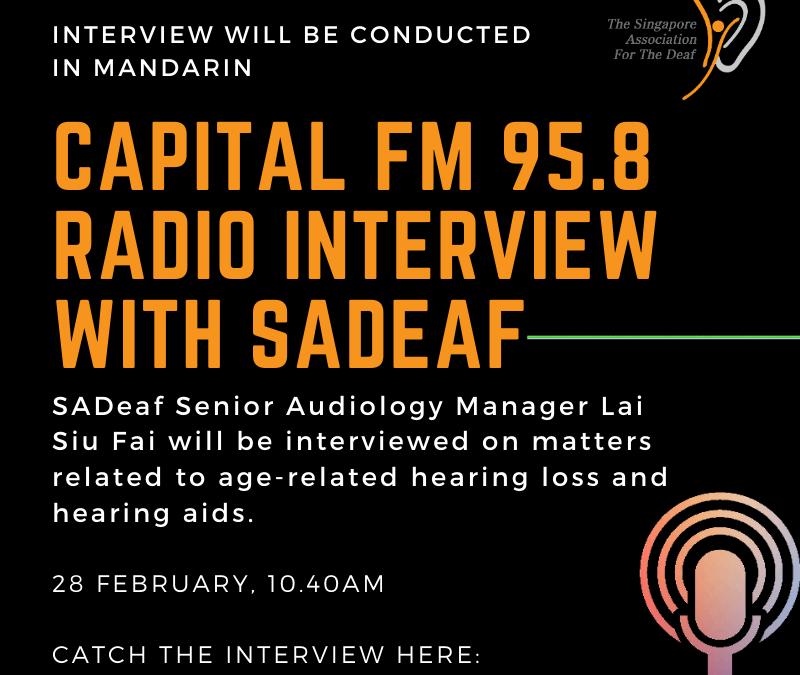 Capital FM 95.8 Radio Interview with SADeaf