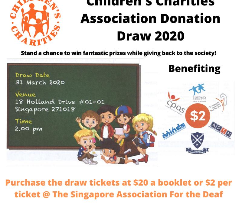Children's Charities Association Donation Draw 2020