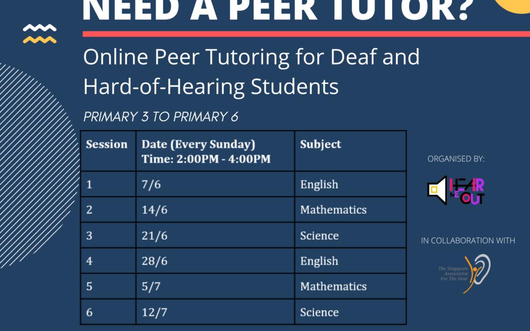 Online Peer Tutoring