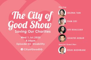 The City of Good Show: Episode 2 - Disability @ https://www.facebook.com/CityofGoodSG/
