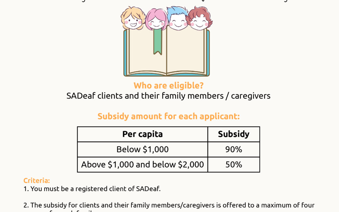 Singapore Sign Language (SgSL) courses for SADeaf clients